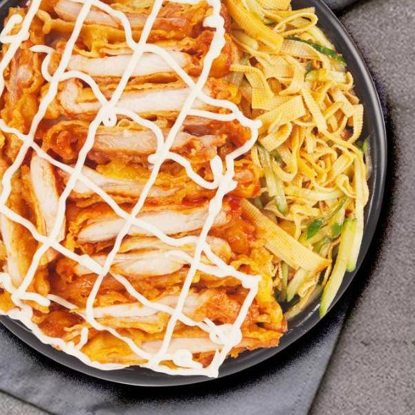 【孟氏巴西烤肉拌饭】沙拉烤肉拌饭